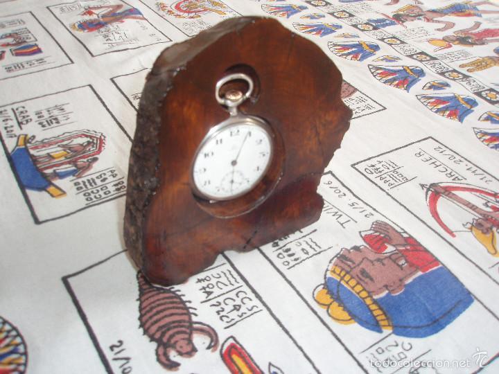 Herramientas de relojes: RELOJERA PARA RELOJ DE BOLSILLO DE MADERA tronco - Foto 3 - 59891351