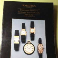 Herramientas de relojes: CATÁLOGO DE SUBASTAS DE RELOJES SOTHEBY'S. Lote 62095316