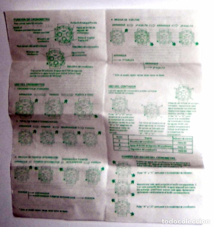 Herramientas de relojes: MANUAL INSTRUCCIONES ANTIGUO VINTAGE. CRONOGRAFO CRONOMETRO RELOJ NOWLEY. BOLSA ORIGINAL - Foto 2 - 76034231