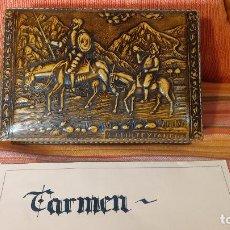 Herramientas de relojes - Botita caja con Don Quijote y Sancho Panza, ideal para guardar reloj, relojes, joyas, tabaco, etc - 83679668