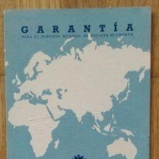 Ferramentas para relógios: GARANTIA RELOJ BUCHERER - 1970. Lote 91981945