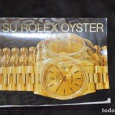 Herramientas de relojes: ROLEX - SU ROLEX OYSTER - CATALOGO EN ESPAÑOL . Lote 92697920