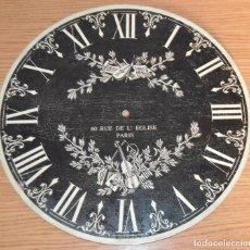 Herramientas de relojes: ESFERA RELOJ DE MADERA - MUSICAL. Lote 94909879