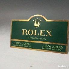 Herramientas de relojes: BONITA PLACA CON FUNDA DISTRIBUIDOR OFICIAL ROLEX J.ROCA JOYERO. Lote 98885631