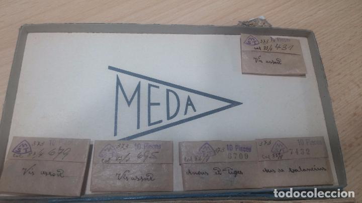 Herramientas de relojes: Muy botita caja de piezas de reloj o relojes, con recambios muy antiques, letras escritas con pluma - Foto 14 - 99319699