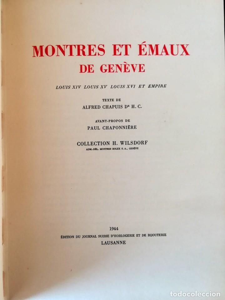 Herramientas de relojes: ROLEX,LIBRO COLECCION DE RELOJES DE BOLSILLO DE SU FUNDADOR HANS WILSDORF,1944,SOLO 900,RELOJ LUJO - Foto 4 - 99982547