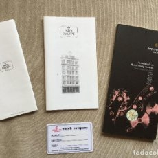 Herramientas de relojes: PATEK PHILIPPE INSTRUCTIONS FOR USE MANUAL BOOK SET AND BLANK WARRANTY CARD. Lote 100040415