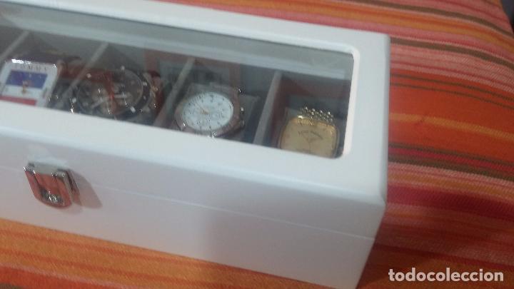 Herramientas de relojes: BOTITO ESTUCHE VITRINA BLANCO, PRECIOSO, IMPOLUTO, SE REGALAN LOS 5 RELOJES QUE CONTIENE - Foto 4 - 100473011