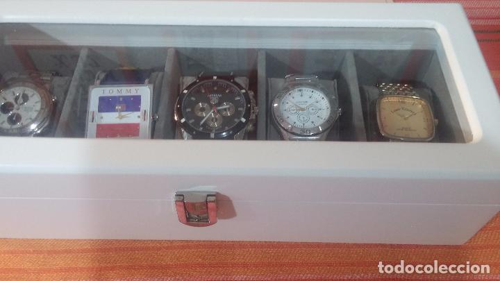 Herramientas de relojes: BOTITO ESTUCHE VITRINA BLANCO, PRECIOSO, IMPOLUTO, SE REGALAN LOS 5 RELOJES QUE CONTIENE - Foto 6 - 100473011