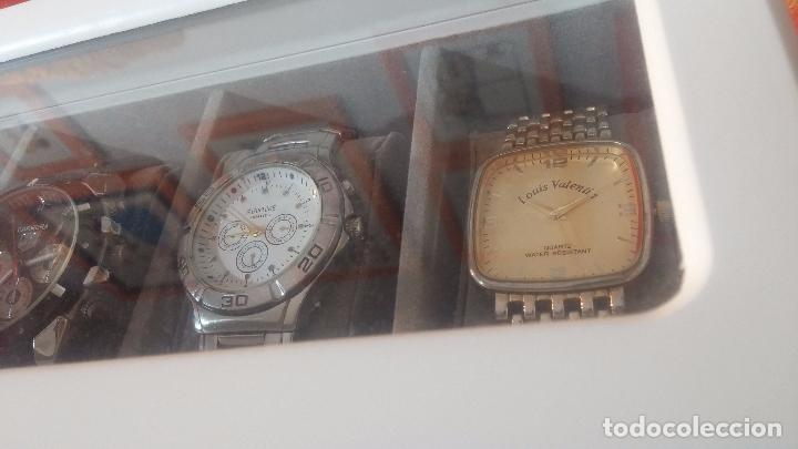 Herramientas de relojes: BOTITO ESTUCHE VITRINA BLANCO, PRECIOSO, IMPOLUTO, SE REGALAN LOS 5 RELOJES QUE CONTIENE - Foto 7 - 100473011