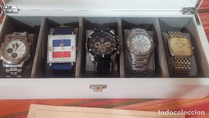 Herramientas de relojes: BOTITO ESTUCHE VITRINA BLANCO, PRECIOSO, IMPOLUTO, SE REGALAN LOS 5 RELOJES QUE CONTIENE - Foto 9 - 100473011