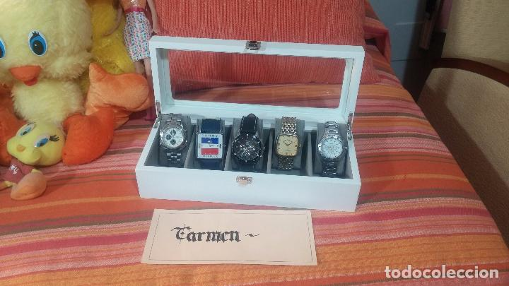 Herramientas de relojes: BOTITO ESTUCHE VITRINA BLANCO, PRECIOSO, IMPOLUTO, SE REGALAN LOS 5 RELOJES QUE CONTIENE - Foto 10 - 100473011