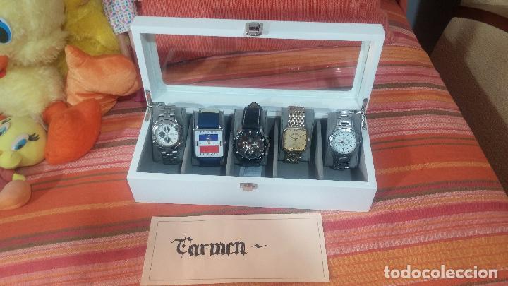 Herramientas de relojes: BOTITO ESTUCHE VITRINA BLANCO, PRECIOSO, IMPOLUTO, SE REGALAN LOS 5 RELOJES QUE CONTIENE - Foto 19 - 100473011