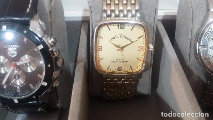 Herramientas de relojes: BOTITO ESTUCHE VITRINA BLANCO, PRECIOSO, IMPOLUTO, SE REGALAN LOS 5 RELOJES QUE CONTIENE - Foto 21 - 100473011