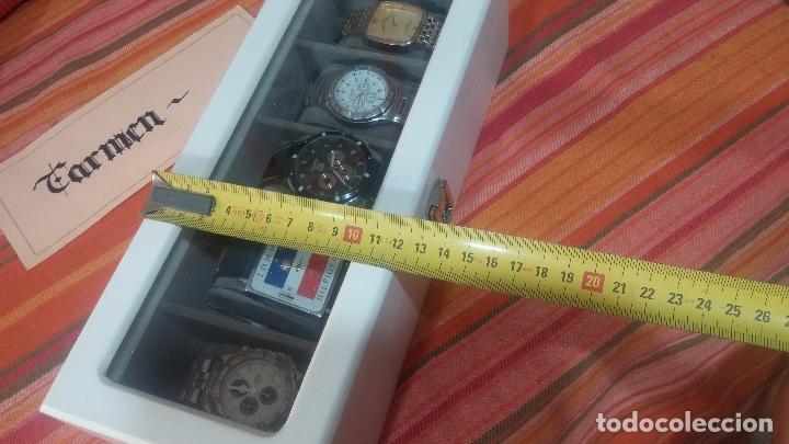 Herramientas de relojes: BOTITO ESTUCHE VITRINA BLANCO, PRECIOSO, IMPOLUTO, SE REGALAN LOS 5 RELOJES QUE CONTIENE - Foto 36 - 100473011