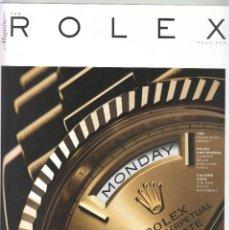Herramientas de relojes: CATALOGO REVISTA RELOJES ROLEX. THE ROLEX MAGAZINE. ISSUE 04.. Lote 102615283