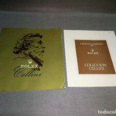 Herramientas de relojes: CATALOGO + LISTA DE PRECIOS ROLEX COLECCION CELLINI ( 1978) - 36PAG 20.5 X 19 CMS . Lote 105922003