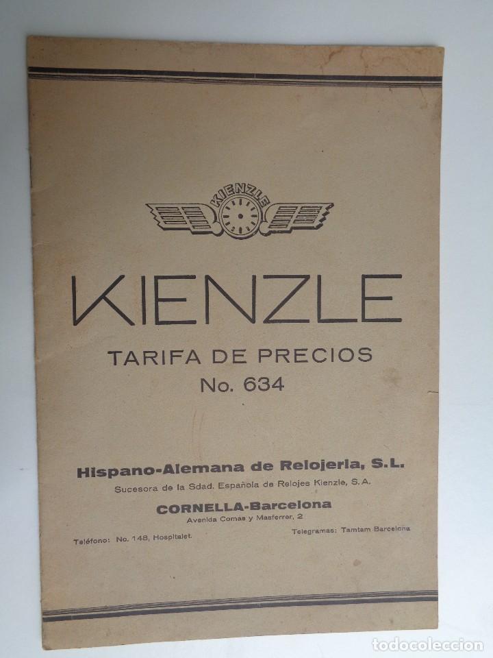 TARIFA DE PRECIOS DE HISPANO ALEMANA DE RELOJERIA.-764 (Relojes - Herramientas y Útiles de Relojero )