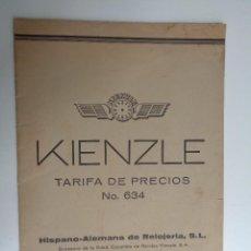 Herramientas de relojes: TARIFA DE PRECIOS DE HISPANO ALEMANA DE RELOJERIA.-764. Lote 108581219