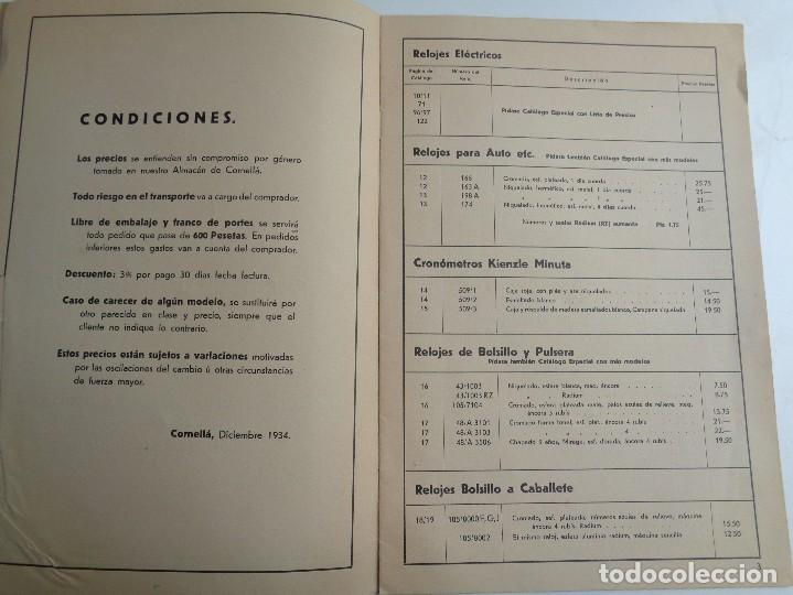 Herramientas de relojes: TARIFA DE PRECIOS DE HISPANO ALEMANA DE RELOJERIA.-764 - Foto 2 - 108581219