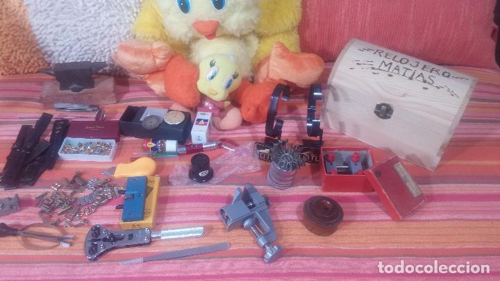 Herramientas de relojes: Botito baulito con herrajes o herramientas para reloj, relojes, relojero o relojeria - Foto 7 - 113429087