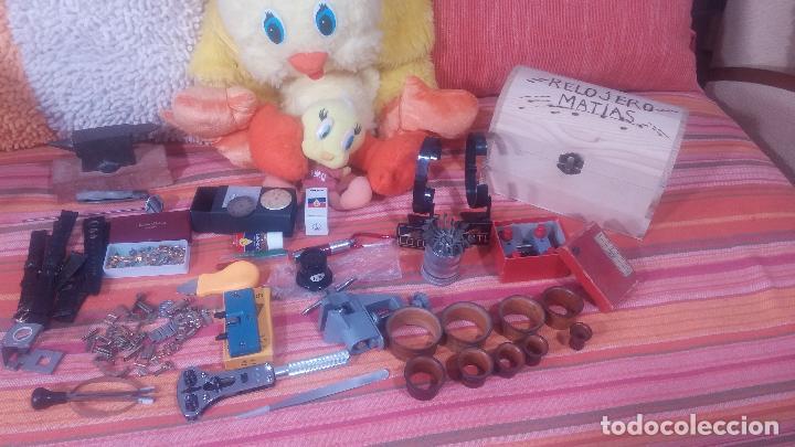 Herramientas de relojes: Botito baulito con herrajes o herramientas para reloj, relojes, relojero o relojeria - Foto 8 - 113429087