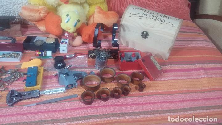 Herramientas de relojes: Botito baulito con herrajes o herramientas para reloj, relojes, relojero o relojeria - Foto 9 - 113429087