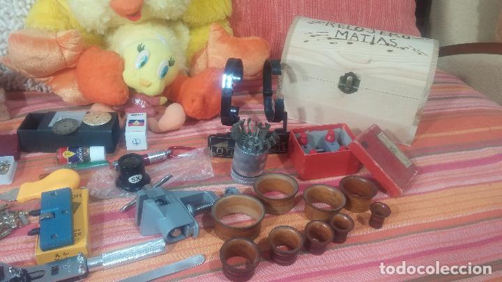 Herramientas de relojes: Botito baulito con herrajes o herramientas para reloj, relojes, relojero o relojeria - Foto 10 - 113429087
