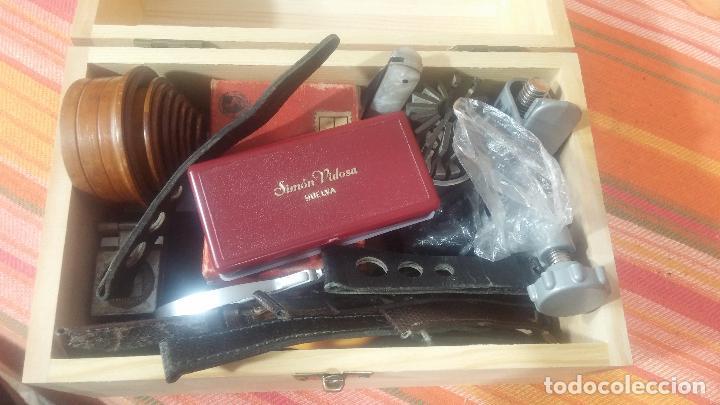 Herramientas de relojes: Botito baulito con herrajes o herramientas para reloj, relojes, relojero o relojeria - Foto 46 - 113429087