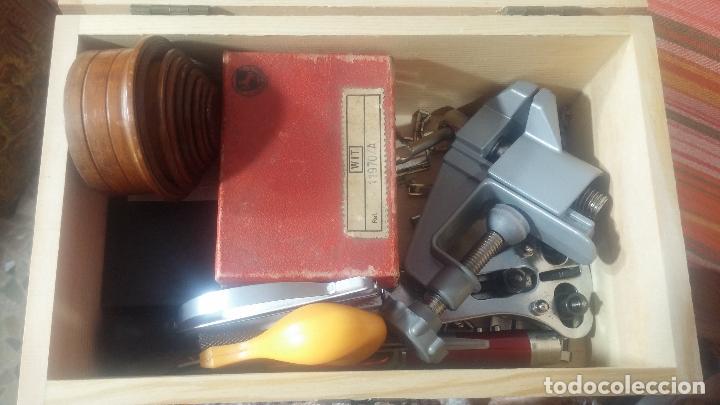 Herramientas de relojes: Botito baulito con herrajes o herramientas para reloj, relojes, relojero o relojeria - Foto 48 - 113429087