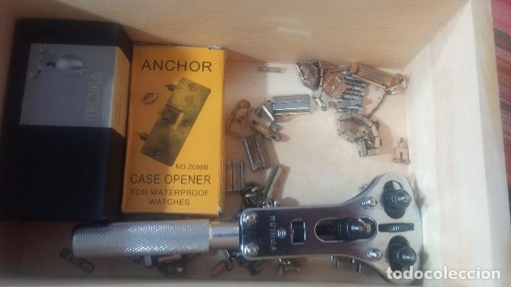 Herramientas de relojes: Botito baulito con herrajes o herramientas para reloj, relojes, relojero o relojeria - Foto 50 - 113429087