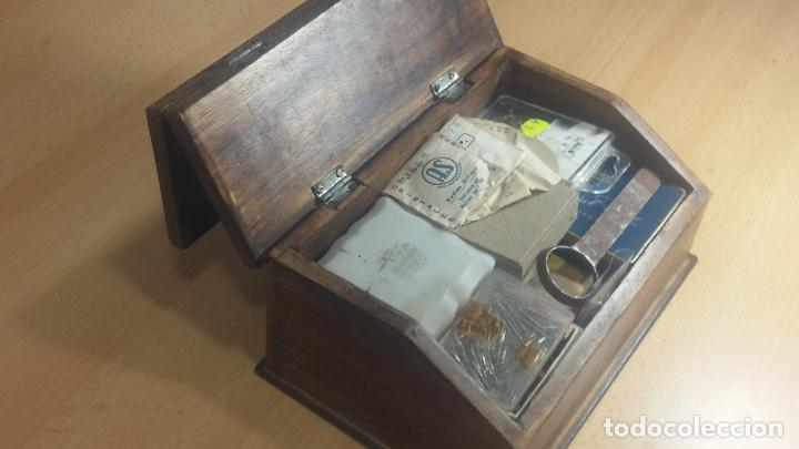 Herramientas de relojes: Botita caja relojera con gran cantidad de artículos para relojes antiguos - Foto 20 - 115590259