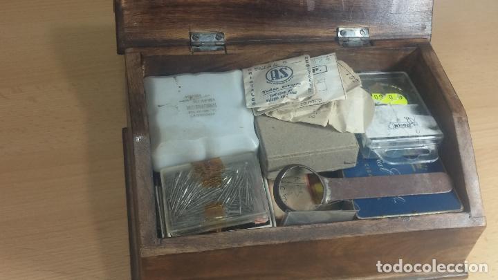 Herramientas de relojes: Botita caja relojera con gran cantidad de artículos para relojes antiguos - Foto 22 - 115590259