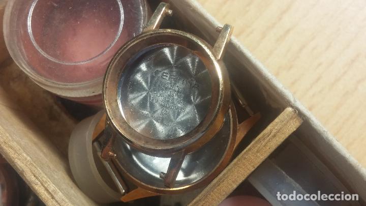 Herramientas de relojes: Botita caja relojera con gran cantidad de artículos para relojes antiguos - Foto 103 - 115590259