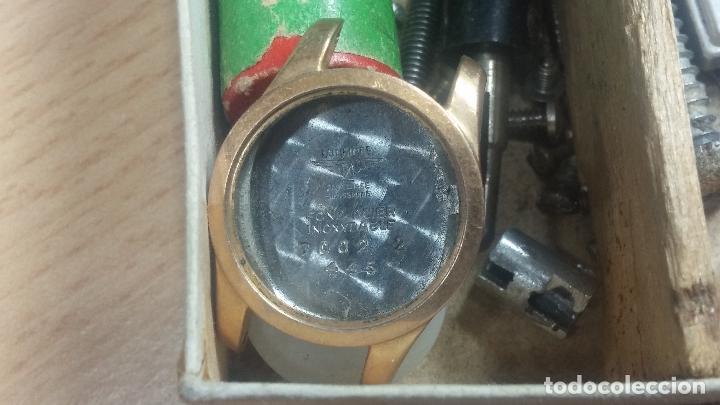 Herramientas de relojes: Botita caja relojera con gran cantidad de artículos para relojes antiguos - Foto 104 - 115590259