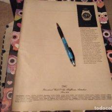 Herramientas de relojes: ANTIGUO ANUNCIO PUBLICIDAD PARA ENMARCAR RELOJ INGENIEUR SL DE IWC POSIBLE RECOGIDA EN MALLORCA. Lote 116860007