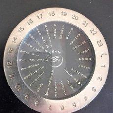 Herramientas de relojes: HORARIO UNIVERSAL SEGÚN MERIDIANOS TERRESTRES DE LA ALIANZA AÉREA SKY TEAM. Lote 117046171