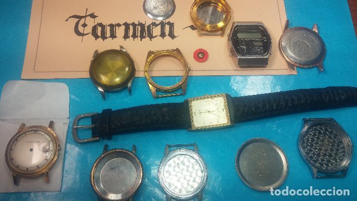 Herramientas de relojes: BOTITO LOTE RELOJERO, TAPAS CYMA, CAJAS CHAPADAS NUEVAS, CUERDAS, RELOJES AVERIADOS, ETC - Foto 8 - 121527983