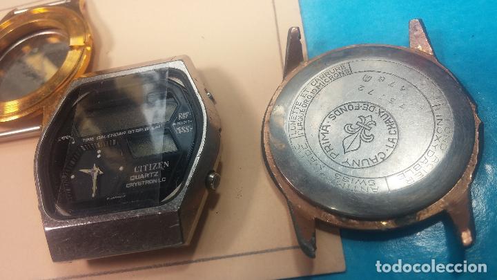 Herramientas de relojes: BOTITO LOTE RELOJERO, TAPAS CYMA, CAJAS CHAPADAS NUEVAS, CUERDAS, RELOJES AVERIADOS, ETC - Foto 12 - 121527983