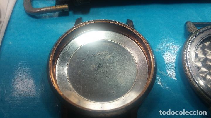 Herramientas de relojes: BOTITO LOTE RELOJERO, TAPAS CYMA, CAJAS CHAPADAS NUEVAS, CUERDAS, RELOJES AVERIADOS, ETC - Foto 20 - 121527983