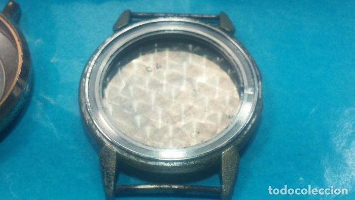Herramientas de relojes: BOTITO LOTE RELOJERO, TAPAS CYMA, CAJAS CHAPADAS NUEVAS, CUERDAS, RELOJES AVERIADOS, ETC - Foto 23 - 121527983