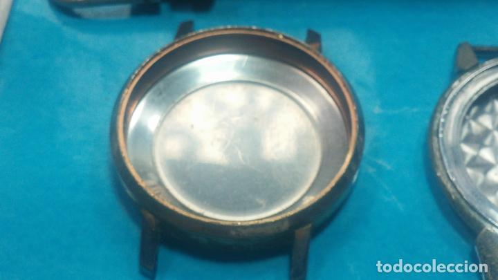 Herramientas de relojes: BOTITO LOTE RELOJERO, TAPAS CYMA, CAJAS CHAPADAS NUEVAS, CUERDAS, RELOJES AVERIADOS, ETC - Foto 26 - 121527983