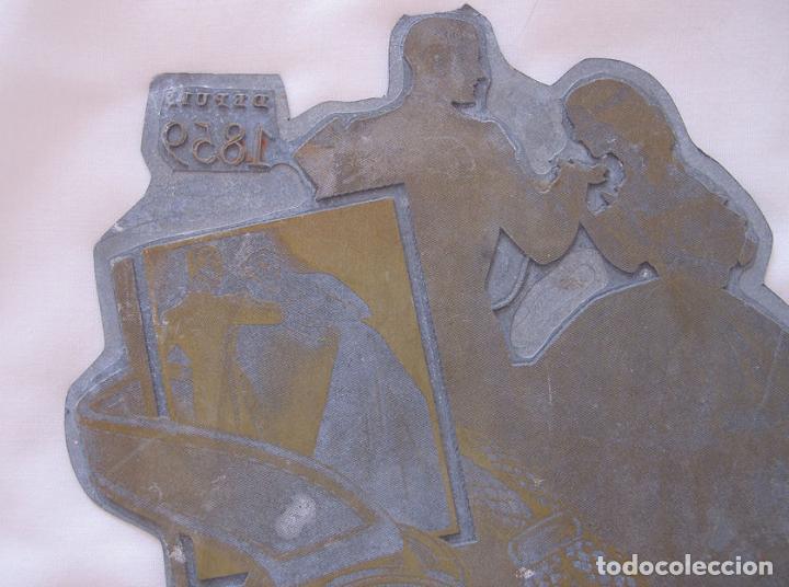 Herramientas de relojes: PLANCHA DE IMPRENTA GRANDE RELOJ ERNEST BOREL SUIZA ANTIGUA - Foto 2 - 121547719