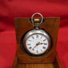 Herramientas de relojes: ANTIGUO EXPOSITOR - RELOJERA PARA RELOJ DE BOLSILLO EN MADERA NOBLE - ESPAÑA. SIGLO XIX.-. Lote 122123855