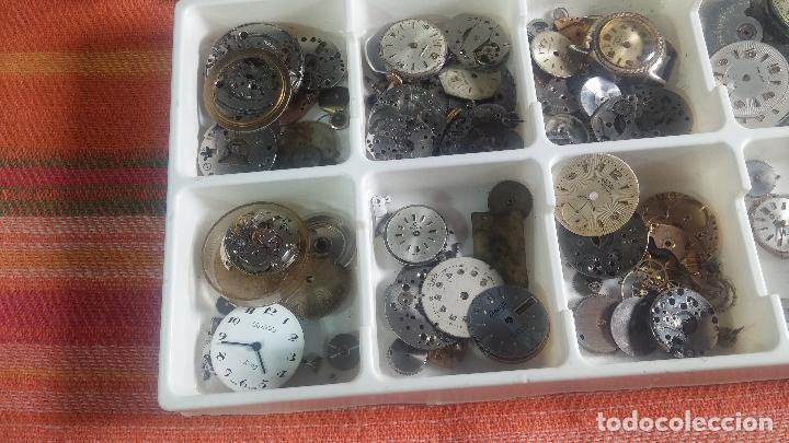 Herramientas de relojes: BOTITO Y VARIADO LOTE DE RELOJ, RELOJES, MAQUINAS, ESFERAS Y PIEZAS SUELTAS PARA RELOJ ANTIGUO - Foto 4 - 124338623