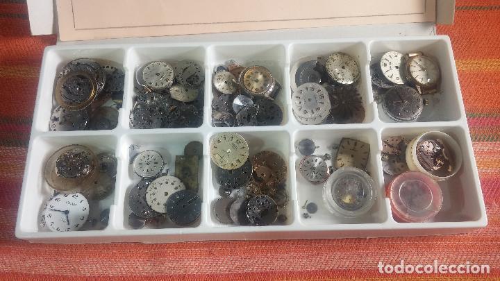 Herramientas de relojes: BOTITO Y VARIADO LOTE DE RELOJ, RELOJES, MAQUINAS, ESFERAS Y PIEZAS SUELTAS PARA RELOJ ANTIGUO - Foto 6 - 124338623