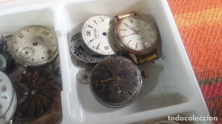 Herramientas de relojes: BOTITO Y VARIADO LOTE DE RELOJ, RELOJES, MAQUINAS, ESFERAS Y PIEZAS SUELTAS PARA RELOJ ANTIGUO - Foto 17 - 124338623