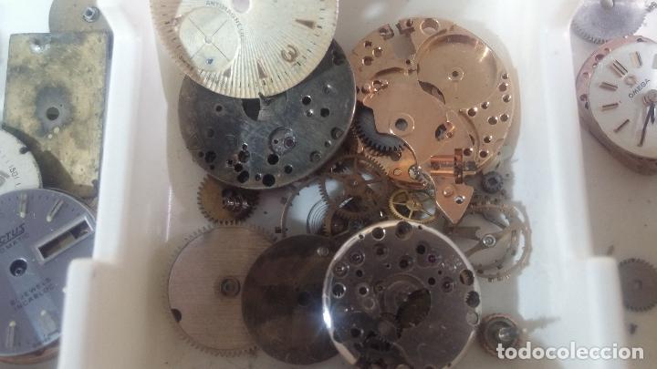 Herramientas de relojes: BOTITO Y VARIADO LOTE DE RELOJ, RELOJES, MAQUINAS, ESFERAS Y PIEZAS SUELTAS PARA RELOJ ANTIGUO - Foto 21 - 124338623