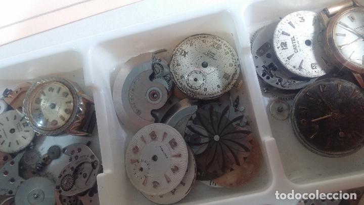 Herramientas de relojes: BOTITO Y VARIADO LOTE DE RELOJ, RELOJES, MAQUINAS, ESFERAS Y PIEZAS SUELTAS PARA RELOJ ANTIGUO - Foto 29 - 124338623