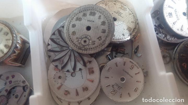 Herramientas de relojes: BOTITO Y VARIADO LOTE DE RELOJ, RELOJES, MAQUINAS, ESFERAS Y PIEZAS SUELTAS PARA RELOJ ANTIGUO - Foto 30 - 124338623